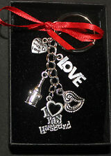 I love you gift wife or husband, keyring for birthday or just to say i love you
