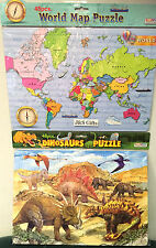 World 48pc Map Puzzle, Europe 48pc Map Puzzle And Dinosaur 48pc Puzzle