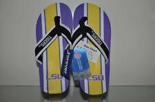 LSU Tigers Mens Contour Stripe Flip Flops by Forever Collectibles NWT