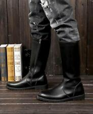 Mens Punk Gothic Boots military  Mid Calf Combat Knight Cosplay Boots Shoes new