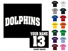 Dolphins College Letters Football Custom T-shirt #256 - Free Shipping
