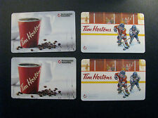 TIM HORTONS COLLECTOR GIFT CARDS - 4 BILINGUAL