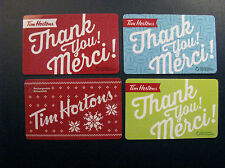TIM HORTONS COLLECTOR GIFT CARDS 4 BILINGUAL