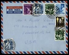 Nigeria airmail cover April 16, 1963 airmail covered Evansville