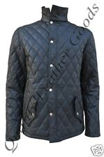 100% GENUINE LEATHER QUILTED DIAMOND STYLE JACKET COAT FANCY COMFORTABLE