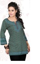 Indian Bollywood Kurta Kurti Designer Women Ethnic Crepe Top Tunic Pakistani sml