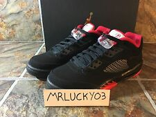 JORDAN RETRO 5 LOW BLACK GYM RED ALTERNATE 90 KIDS GS SZ 5.5Y-6Y 314338-001