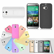 Frosted Matte Ultra Thin TPU Gel Screen Protector Soft Case Cover For HTC One M8