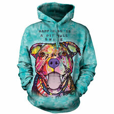 Pit Bull Dog Dean Russo The Mountain Pullover Hoodie Sweatshirt Jacket S- 2XL