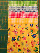 "Summer Bugs 5"" squares, 10"" layer cakes Multi Sew Quilt Cotton Fabric Print"