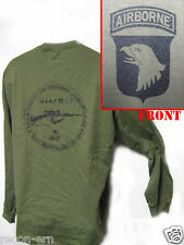 101 AIRBORNE LONG SLEEVE T-SHIRT/ M14 M1A / MILITARY/ ARMY / NEW
