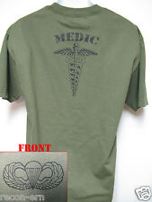 AIRBORNE T-SHIRT/ MEDIC/ COMBAT/ ARMY/ HOOAAAHHH/    NEW