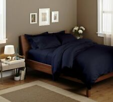 THREAD TREASUREs NAVY BLUE SOLID BEDDING COLLECTION 1000TC 100% COTTON - NB04