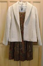 Eileen Fisher Cream Jacket blazer Wool Boucle Size S