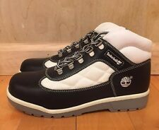 TIMBERLAND FIELD BOOT BLACK WHITE QUILTED VINTAGE GS KIDS YOUTH SZ 4-7 Y  41981