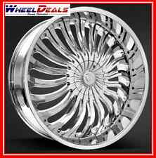 "24"" BORGHINI BW24 CHROME WHEELS & TIRES PACKAGE FITS CHEVY, FORD, GMC & MORE"
