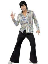 70s Retro Fancy Dress Costume Mens Black 60s and 70s Costumes