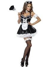 Adult Sexy Flirty Saucy French Maid Ladies Fancy Dress Hen Party Costume Outfit