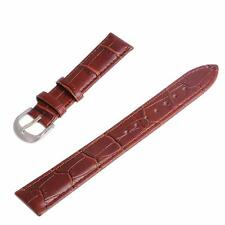 12mm 14mm 16mm 18mm 20mm 22mm 24mm Brown Genuine Leather Watch Band Strap