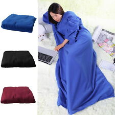 Supper Home Winter Warm Fleece Snuggie Blanket Robe Cloak With Sleeves Lot DP