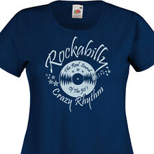 T-shirt femme ROCKABILLY  Rock'n'Roll 50's 60's Vintage Retro Vinyle Oldies SUN