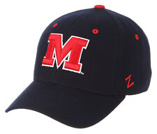 MISSISSIPPI OLE MISS REBELS NAVY NCAA VTG FITTED SIZED ZEPHYR DH CAP HAT NWT!