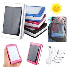 80000mAh Phone Solar Panel Charger Battery USB Portable Power Bank + LED Light