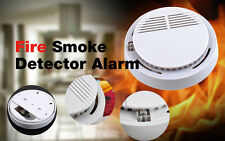 Top 10pcs Cordless Fire Smoke Detector Alarm Photoelectric Smoke Warning Battery