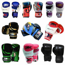 3XSports Boxing Gloves KickBoxing Thai Sparring Punch Bag MMA Mitts Fight OZ