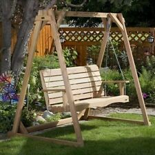 All Things Cedar Porch Swing with Stand. Free Delivery