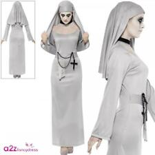 ADULT WOMEN GOTHIC NUN LADIES ZOMBIE SCARY HALLOWEEN FANCY DRESS COSTUME OUTFIT