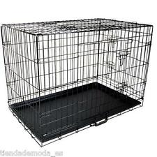 "30"" /42"" Collapsible 2Door Metal Wire Dog Crate Cage Tray Pet Puppy Garden Home"