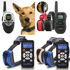 Safe Electric Rechargeable  Dog Training Collar Vibra Remote Control 2 E-Collars