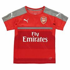 Puma Arsenal FC Training Jersey Juniors Red Football Soccer Top Shirt T-Shirt