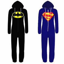 Kids Boys/Girls Oneise Superman Batman Hooded All In One Piece Jumpsuit 7-14yrs