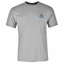Newcastle United FC Small Crest T-Shirt Mens Grey Top Tee Shirt Football Soccer