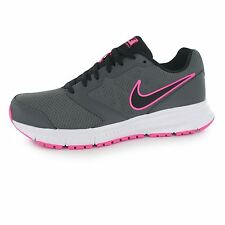 Nike Downshifter 6 Running Shoes Womens Grey/Black/Pink Run Trainers Sneakers