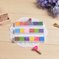 6Colors Non-Toxic Color Ink Pad Inkpad Rubber Stamp Finger Print DIY Craft Stamp