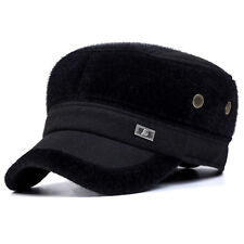 Imitation Mink Fur Earflap Baseball Cap Adjustable Faux Fur Outdoor Military Hat