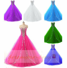 Formal Evening Dresses Prom Party Ball Wedding Gowns Quinceanera Dress Size 6-18