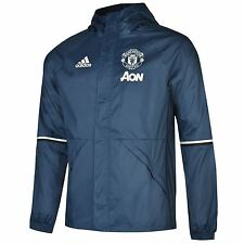 Adidas Manchester United FC Away Jacket 2016 2017 Mens Blue/Navy Football Soccer