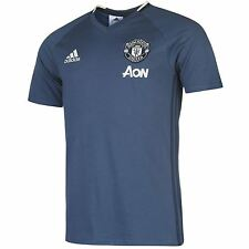 Adidas Manchester United FC T-Shirt Mens Blue/Navy Football Soccer Top Tee
