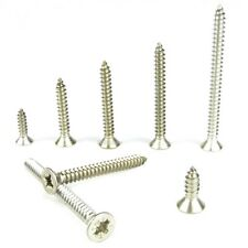 Stainless Steel Countersunk Self Tapping Screws Pozi Drive A4 No.6 100 Pack