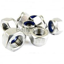 Nyloc Nuts Stainless Steel Lock Nut Nylon Insert M4  A2