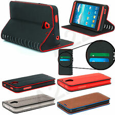 Genuine Luxury Magnetic Flip Cover Stand Wallet Leather Case For Mobile Phones