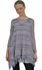 NWT  Pretty Angel Clothing AugustaTwo Piece Ladies Retro Tunic Gray  88326
