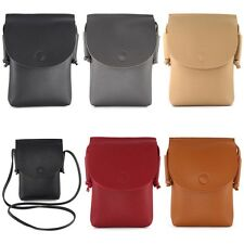 Shoulder Strap Wallet Purse Coin Mobile Cellphone Pouch Bag Case Cover 6.5 Inch