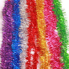 Deluxe Thick Chunky Metallic Christmas Tinsel Tree Decoration 7 Colour 6.5 Ft