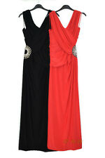 LADIES ELEGANT FITTED LONG WRAP OVER EVENING/PARTY/PROM DRESS