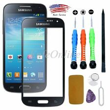 Black Replacement Outer Front Screen Lens Glass For Samsung Galaxy S4 MINI /Tool